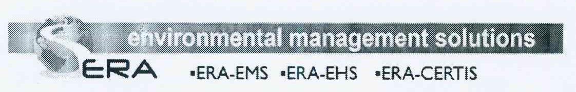 商標文字ERA ·ERA-EMS·ERA-EHS·ERA-CERTIS ENVIRONMENTAL MANAGEMENT SOLUTIONS商標注冊號 11022424、商標申請人意如環境管理咨詢有限公司的商標詳情 - 標庫網商標查詢